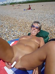 Bare milfs posing naked and satiate..
