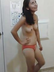 Desi Little girls Posing Utter Bare..
