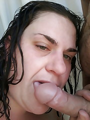 BBW Fellating Man rod -  - youpornx