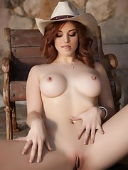 Molly Stewart Bare Is A Cowgirl In..