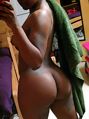 Petite african gf Naked at Home