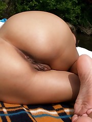 Slim ex-wife nude in the forest and in..