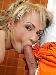 Petite blonde stunner Ivana Sugar takes..