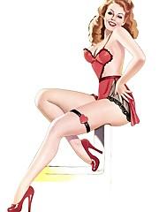Spectacular Crimson lingerie Clip Up..