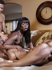 Captivating ebony goddess Ana Foxxx and..