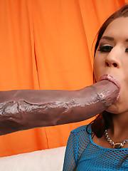 Eva Angelina pokes a looong dark-hued..