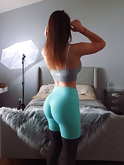 Modeling some great yoga pants