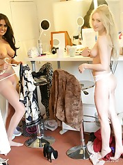 Backstage with Half to Utter Nude..