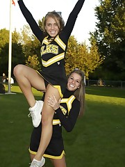 #cheer high school cheerleading pose..