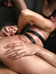 Submissives bitches gangbang penetrated..