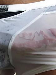 Clear See Thru Humid Underwear White..