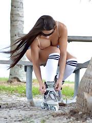 Anais Zanotti Rollerblading in Miami -..