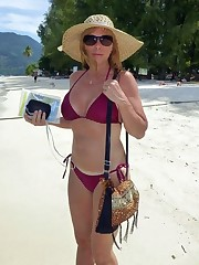 Busty mature women tourists in..