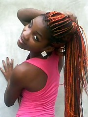 Young woman african nymphs with cute..