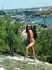 Nude 18yo girl tourist in Crimea