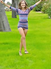 That Playful Look, upskirt outdoor