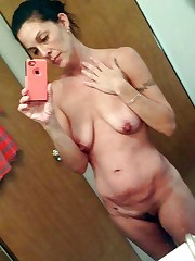 Naked aged women take self-shot  being..