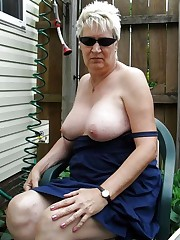 Wild matures and grannies showing tits..