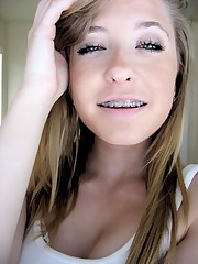 Light-haired Cum In Her Tongue - Gonzo..