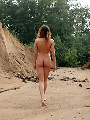 Russian insatiable beach girl naturist..