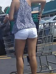 Voyeuy Jpg Nn candid bum shorts black..