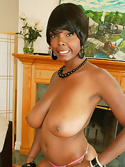 Black Stacy Adams Flashes Off Her Big..
