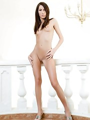 Super sexy little slim babe with huge..