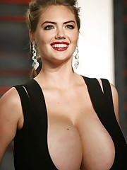Kate Upton huge tits in a dress..