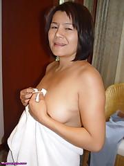 Busty Nice Ass Horny  Japanese Granny..