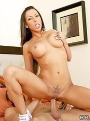 Big-titted dark-haired Rachel Starr..