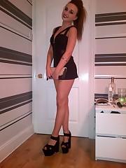 BRITISH Teenager CHAV SLUTS IN SHOWING..