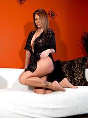 Humungous boobed Nikki Sims in sexy..