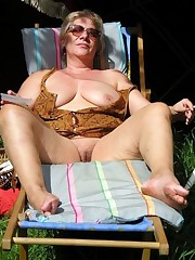 Veritable German mature women naked in..