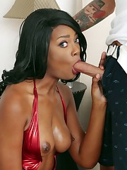 Yummy and sexy ebony superstar Peyton..