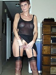 Leggy old woman with a superb body,..