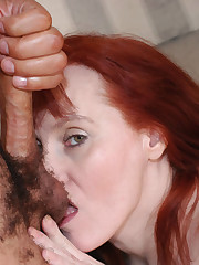 Crimson mature housewife doing what she..