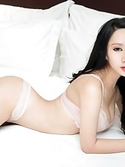 The new JAV asian model in white..