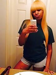 Blonde ebony gf selfshot  set.